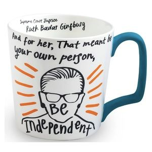 Be Independent Ruth Bader Ginsburg Coffee Mug